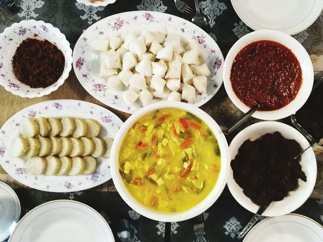Festival Malay Cuisine Foodphotography Food And Drink Ready-to-eat Food Culture No People Glutinous Rice Roasted In Bamboo Joints Lemang Rendang Home Cooking