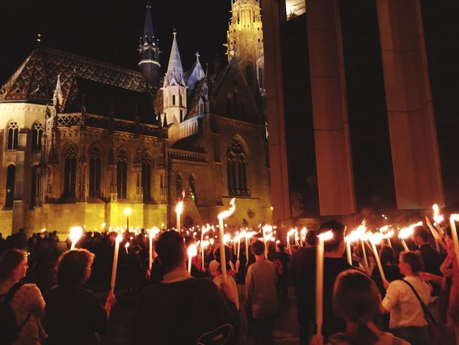 Torch Torchlight Night Fire Light Darkness Church Architecture Large Group Of People Flame Glowing Outside Anniversary School Spirituality City Harrypotter Harry Potter Feeling