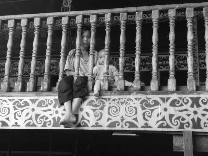 The children from one of the long house in Belaga, Sarawak. Nostalgia Children Photography Village Life Blackandwhitephotography Themomentineverforget