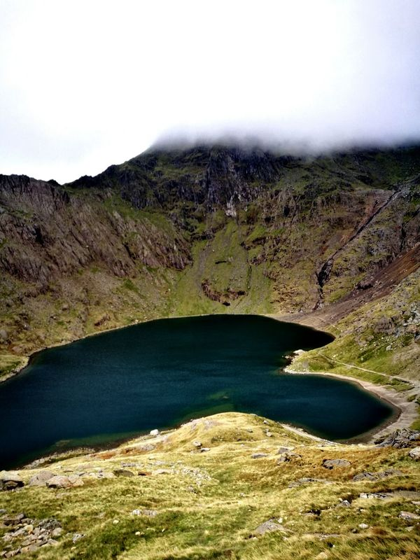 Mount Snowdon. Landscape Mountain Water Nature Lake Scenics No People Nature Reserve Beauty In Nature Outdoors Day Finding New Frontiers Mount Snowdon Summit Mount Snowdon Wales