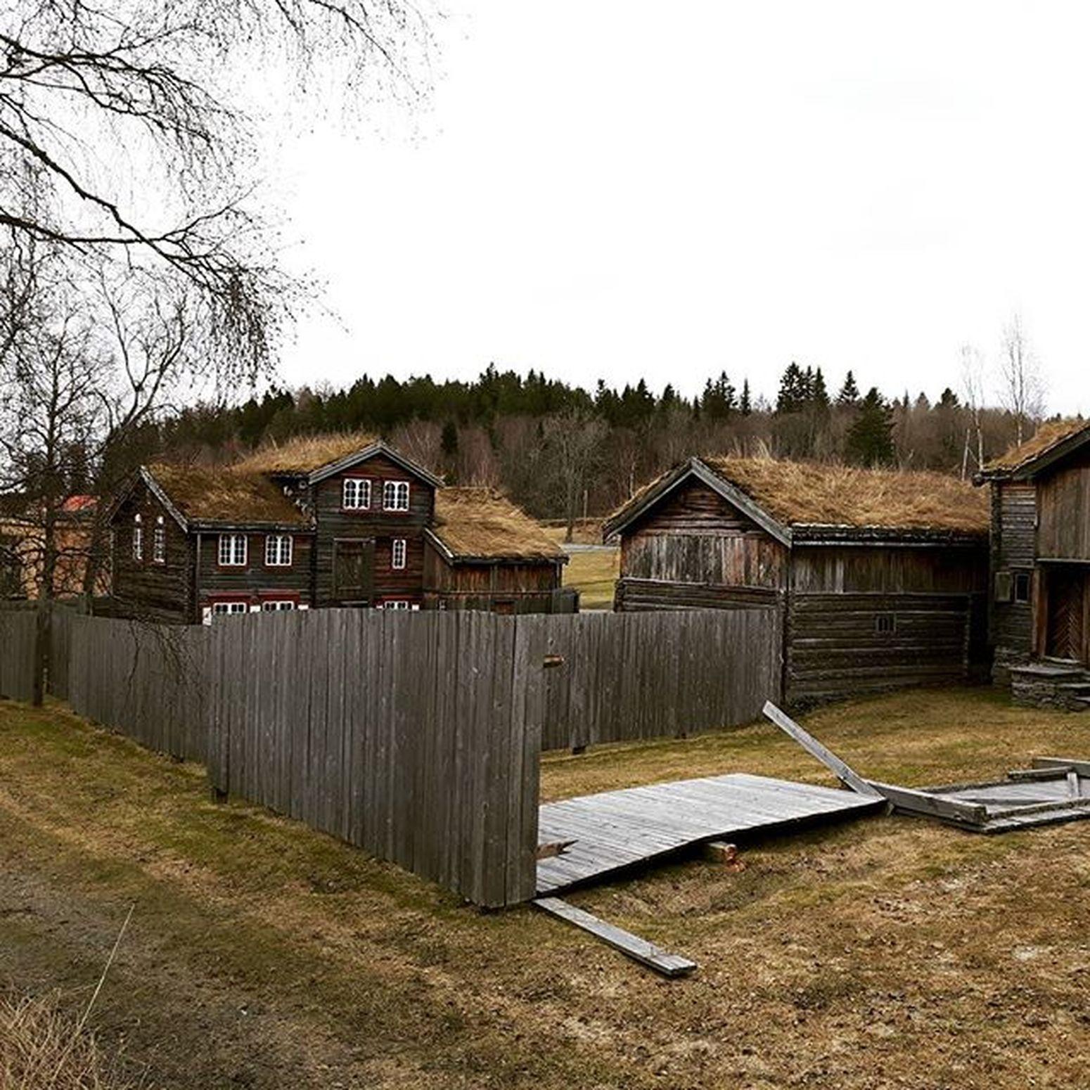 La primavera aún no ha llegado aquí Trondheim Paseo Noruega Kjempekaldt
