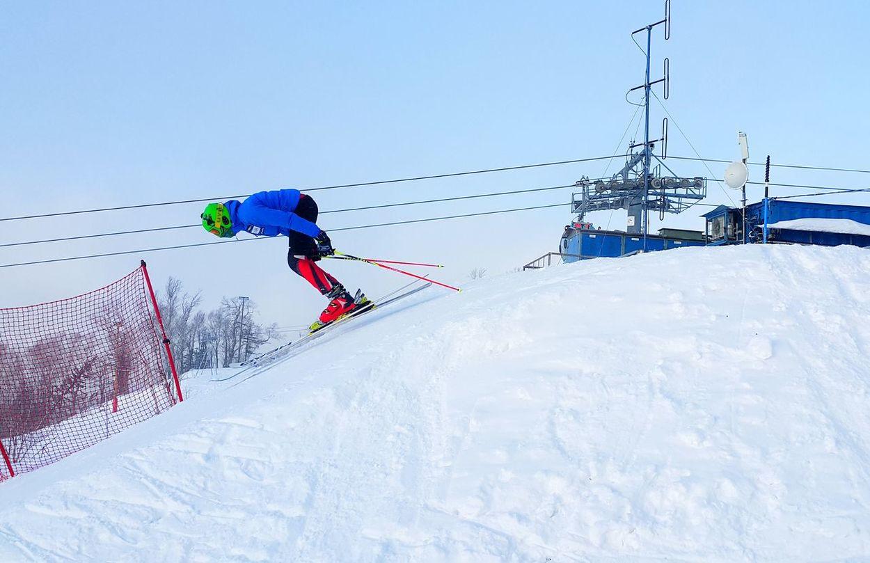 "Низкий старт на трассе ""Спортивная"" Ski Skiing Winter Sunset Snow❄ Snow"