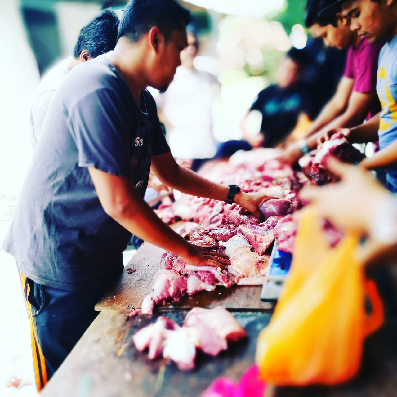 Celebrate eid adha in malaysia Eiduladha Malaysia Selective Focus Food And Drink Freshness Incidental People Food Large Group Of Objects Focus On Foreground Day Person Abundance Collection First Eyeem Photo