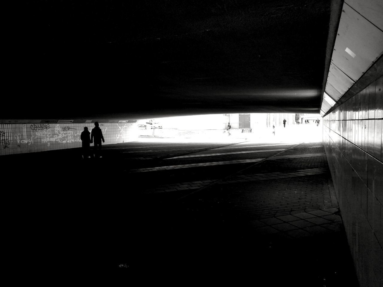 Silhouette Real People One Person People Adult Black & White Black And White Architecture Outdoors Transportation Silhouette Shadow Lifestyles The Way Forward Walking