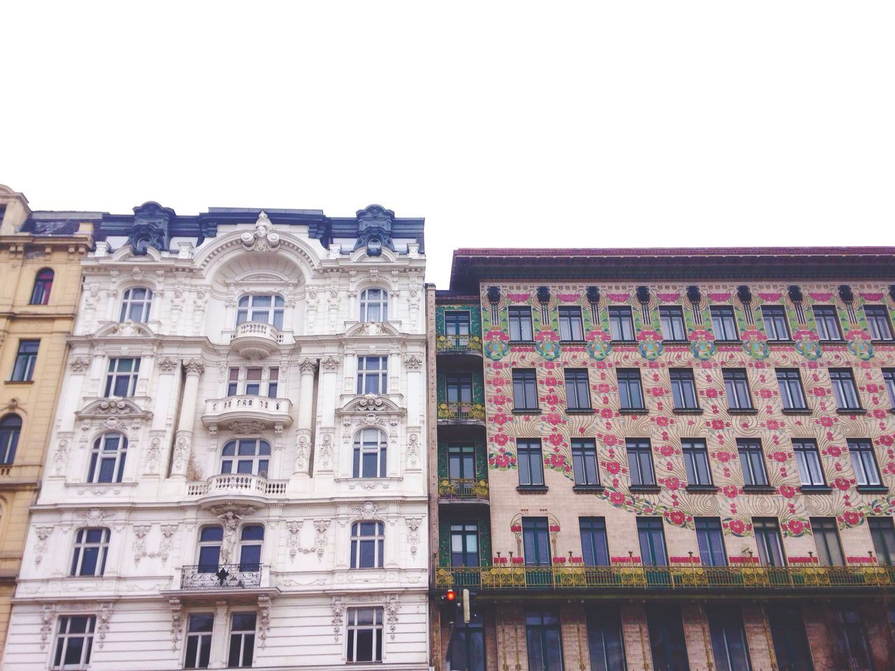Vienna why you so pretty. Building Exterior Architecture Window City Built Structure Façade Low Angle View Clear Sky Outdoors No People Day Building Feature Sky Design Art