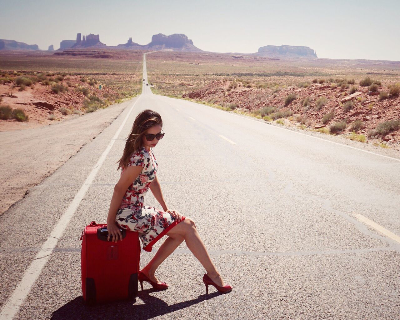 Summertime Sadness 🎧 Shootermag_usa Summertime Wild West Roadtrip Portrait Of A Woman Editorial  Editorial Fashion Vintage Style Vintage Fashion Forest Gump Roadside Road Utah Southwest  Fashion Style ✌ Style Hidden Gems  People And Places Women Around The World The Great Outdoors - 2017 EyeEm Awards