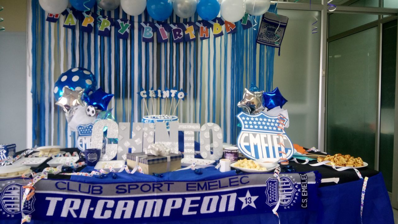 Decorate Tablñe Emelec Happy Birthday! Party Party In Office Party Time Thematic Party First Eyeem Photo