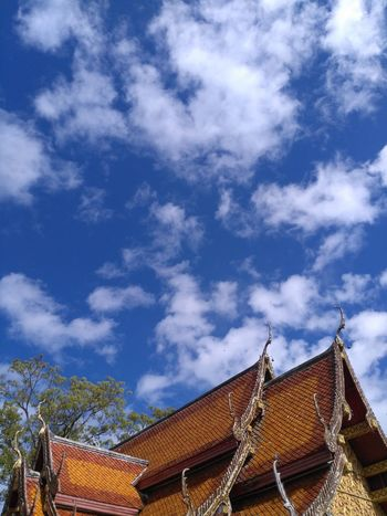 My sky Cloud - Sky No People Roof Day Skylovers Beautiful Temple Chiang Mai | Thailand Outdoors Religion And Beliefs Religion Nofilter No Edit/no Filter Proud To Be Thai Great Time Together No Need Filter!  Cloudlover Beauty In Nature My Hometown Faith