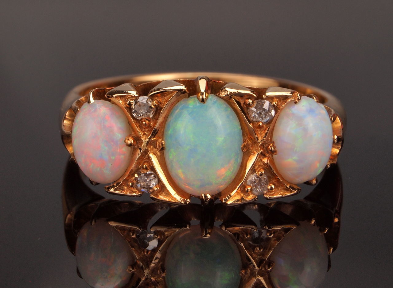 Antique Gold Ring Close-up Creativity Culture Decoration Focus On Foreground Glass Glass - Material Hanging Indoors  Metal No People Old-fashioned Opal Diamond Gold Ring Opal Diamonf Opal Gold Ring Ornate Part Of Religion Selective Focus Single Object Still Life Studio Shot Table