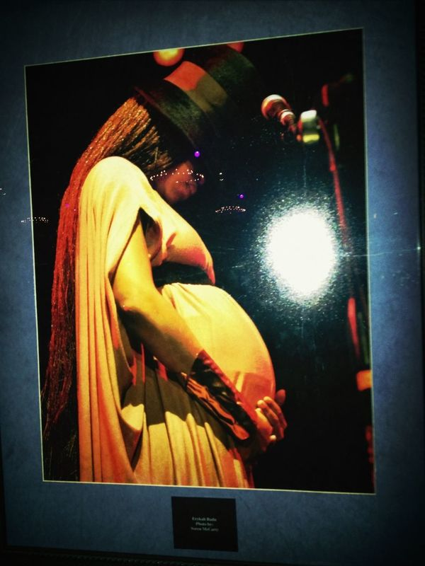 On the wall of fame. Erykah Badu pregnant...
