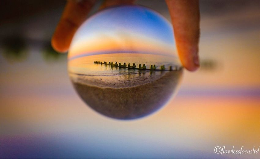 Outdoors Glass Ball Crystal Ball Sunset Sunset_collection Colors Colour Of Life Beauty In Nature Beach Beautiful Nature Lancing  Uk East Sussex Sunset And Clouds  Sunsets Conceptual Photography  Landscape Nature Nature Photography Landscape_Collection Sussex Photooftheday Landscape_photography Sky Coastline
