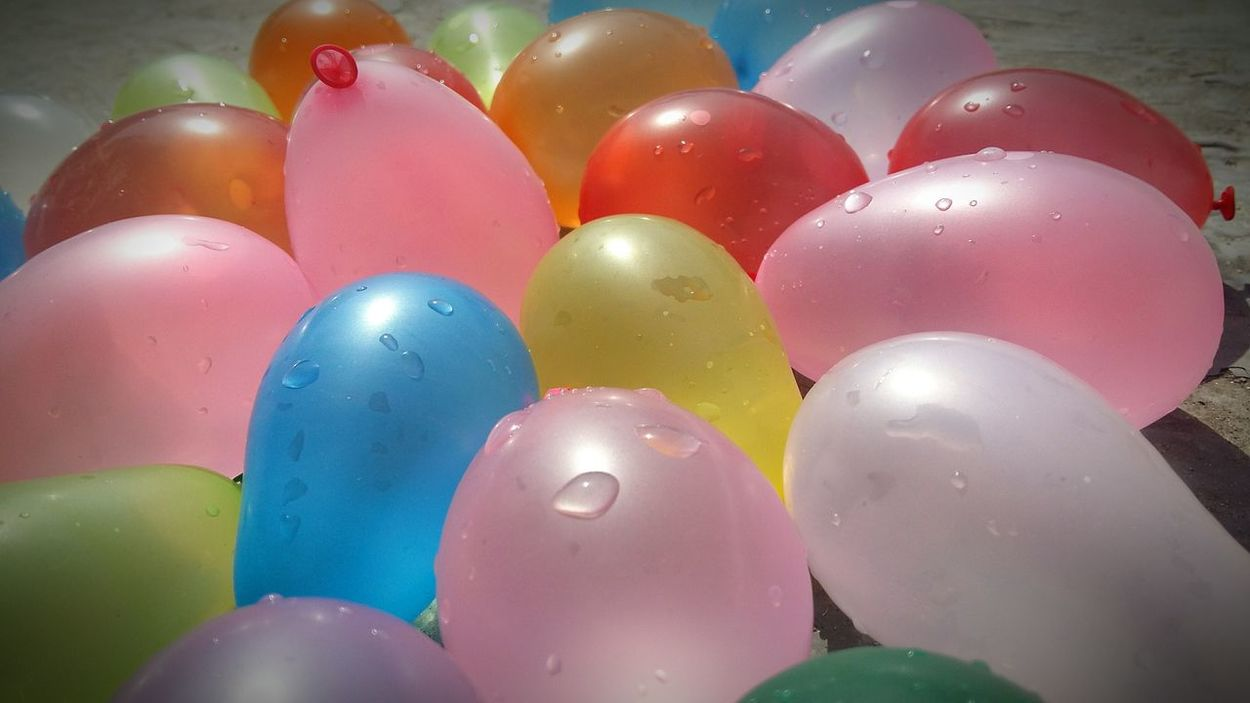 Happy Holi Water Ballons Colourful Balloons Holi Festival Of Colours Enjoying Holi