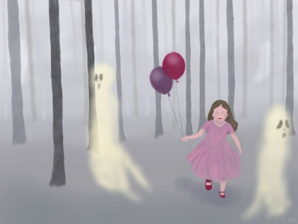 Who ia afraid of girls - my new digital painting, created with ArtflowStudio for Android Balloon One Person Fantasy Red Helium Balloon One Girl Only Ghost Surrealism Surrealist Art My Artwork 🌹 MyArt MYArtwork❤ Digital Painting Digital Art
