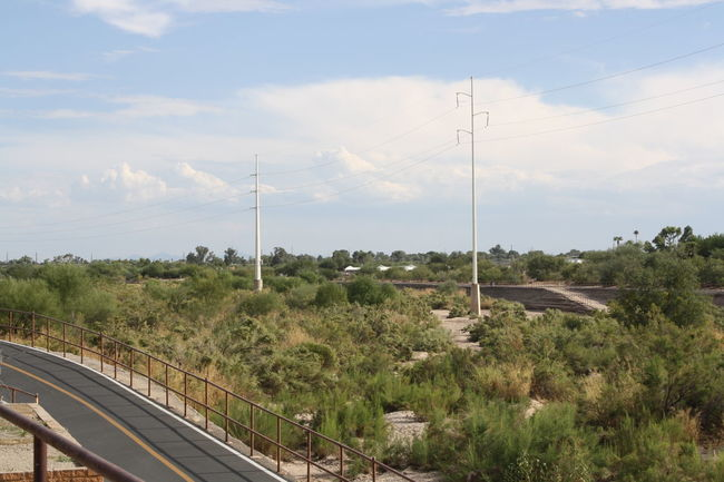 Arid Climate Arid Climate, Arizona Arizona Sky AriZona♡ Bike Trail Cloud - Sky Day Electricity  Fuel And Power Generation Grass Growth Horizontal Nature Nature Nature Photography No People Outdoors Power Line  Power Supply Sky Technology Tree Walking Trail