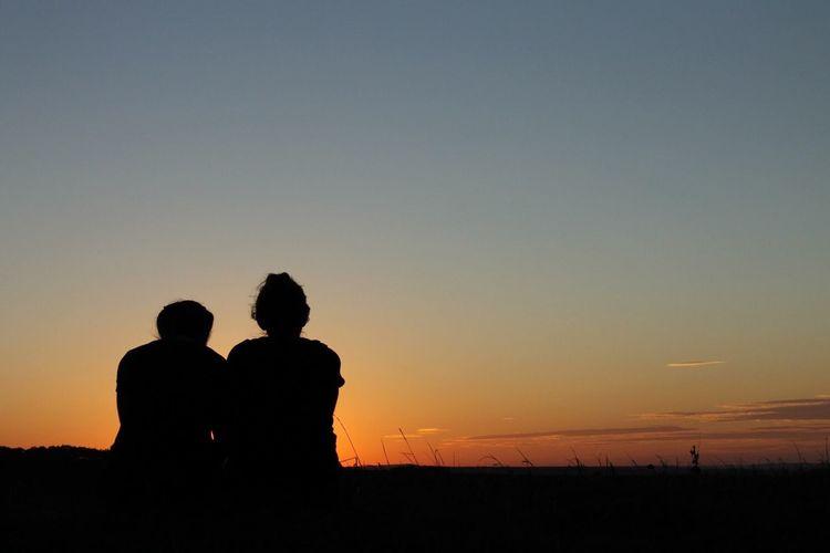 Sunset, female only, landscape, two people, Background EyeEmNewHere Be. Ready. EyeEmNewHere EyeEm Ready