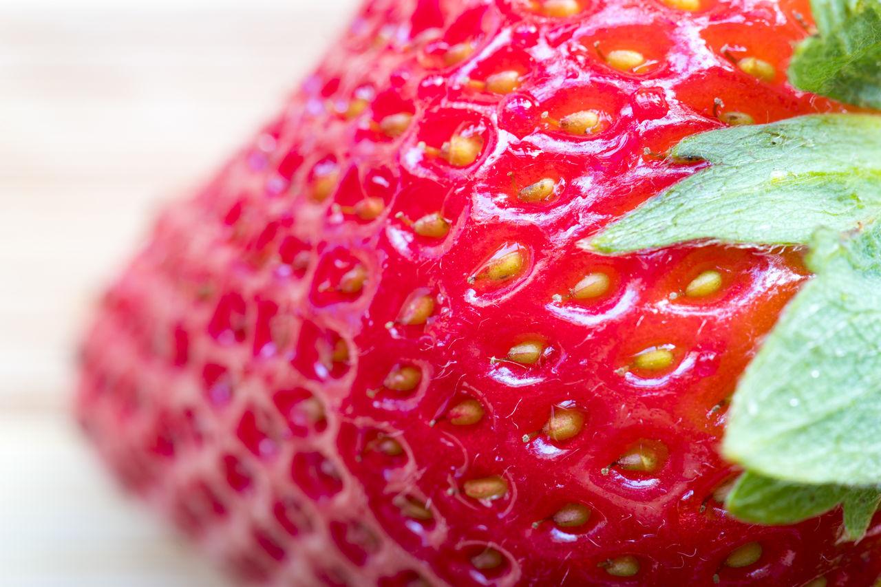 Extreme Close-Up Of Fresh Strawberry
