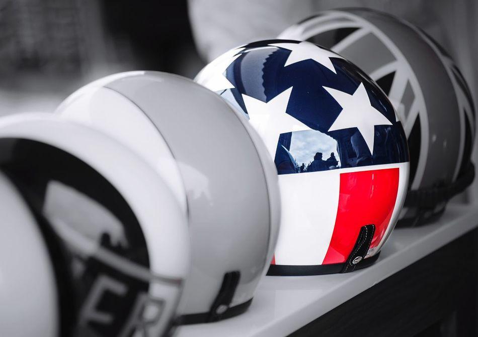 Stars & Stripes Helmet American Helmet Racing Driver Crash American Flag
