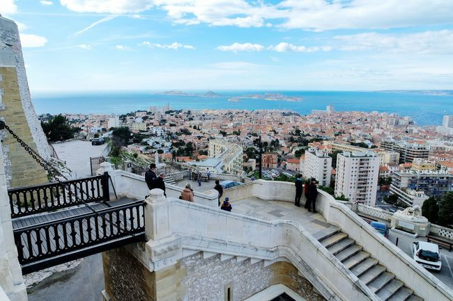 My Favorite Place in Marseille, France Sea Horizon Over Water Architecture Water Built Structure Building Exterior Sky Railing High Angle View Steps City Cityscape Balcony Cloud - Sky Scenics Outdoors Day Residential District Blue Tranquil Scene Fresh 3 Eye4photography  EyeEm Best Shots Open Edit