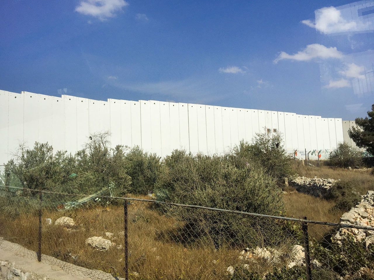 Separation wall between Bethleem and Jerusalem, Israel Barrier Bethlehem Conflict Fence Grass Palestine Separate Separation Wall War West Bank