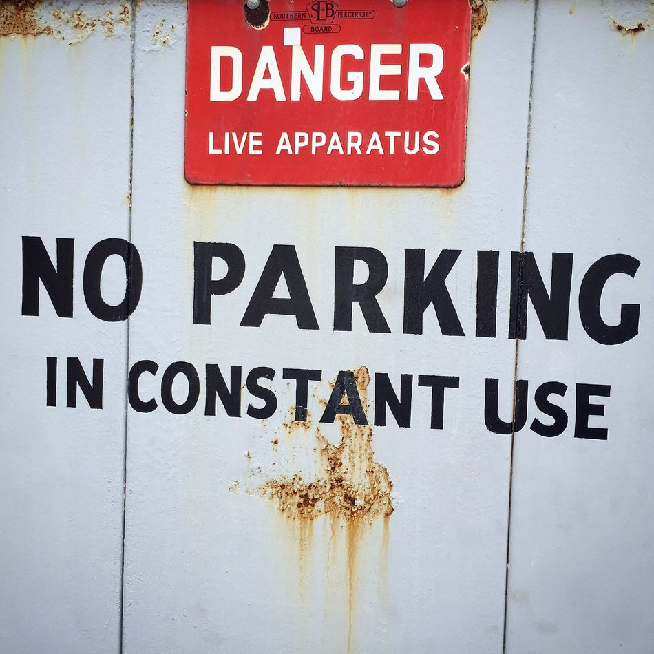 No Parking. Danger! Danger Live Apparatus No Parking No Parking Sign Red Grey Black Sign Constant Creations