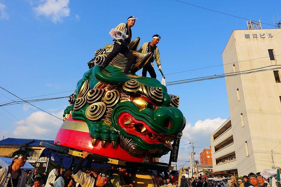 Karatsukunchi Japanese Culture Matsuri Japan 祭り(festival) In Japan Saga,Japan People 唐津くんち Green 祭男 Man