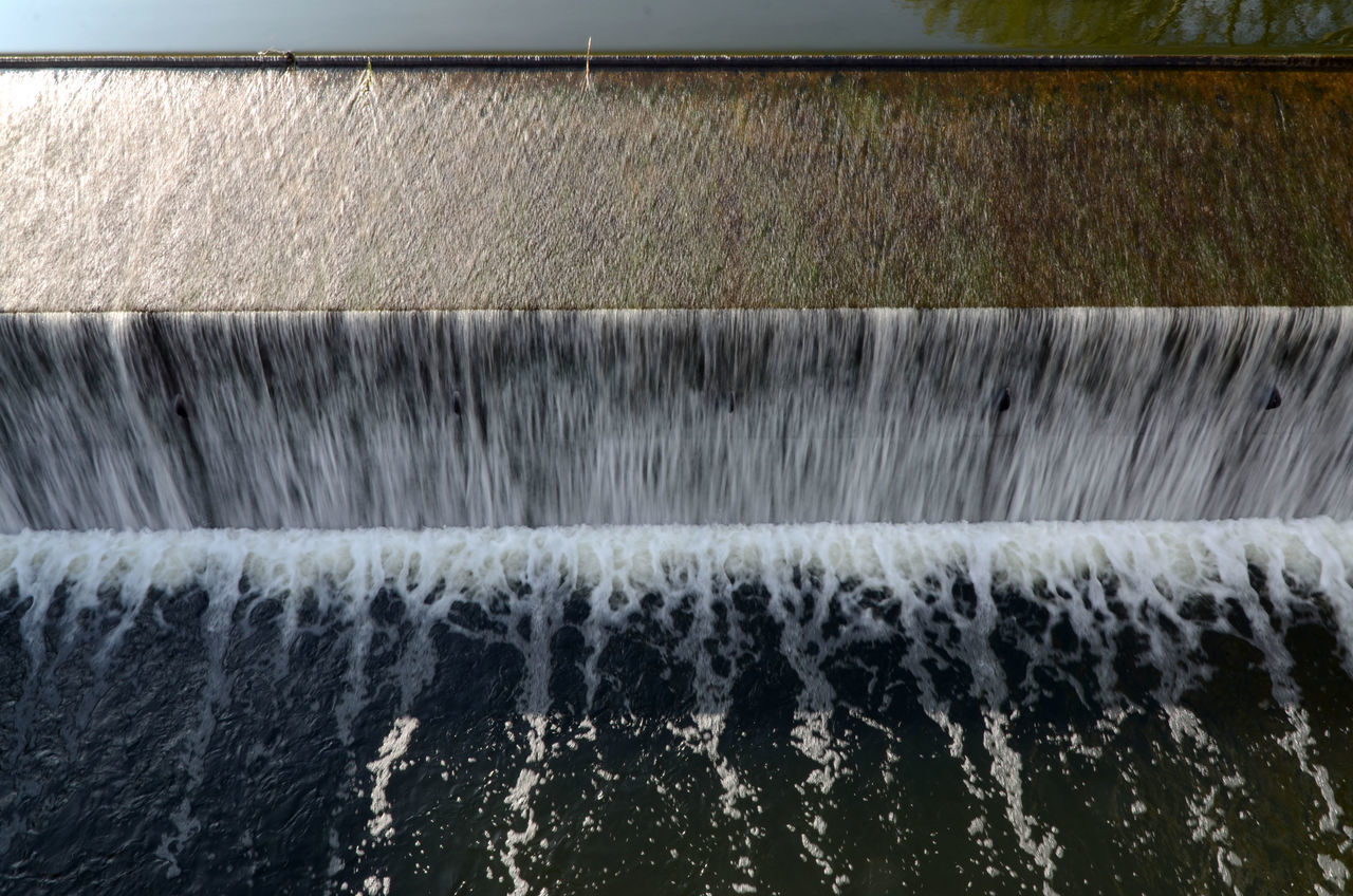motion, flowing water, water, long exposure, dam, no people, outdoors, day, spraying, nature, water pipe, architecture, close-up