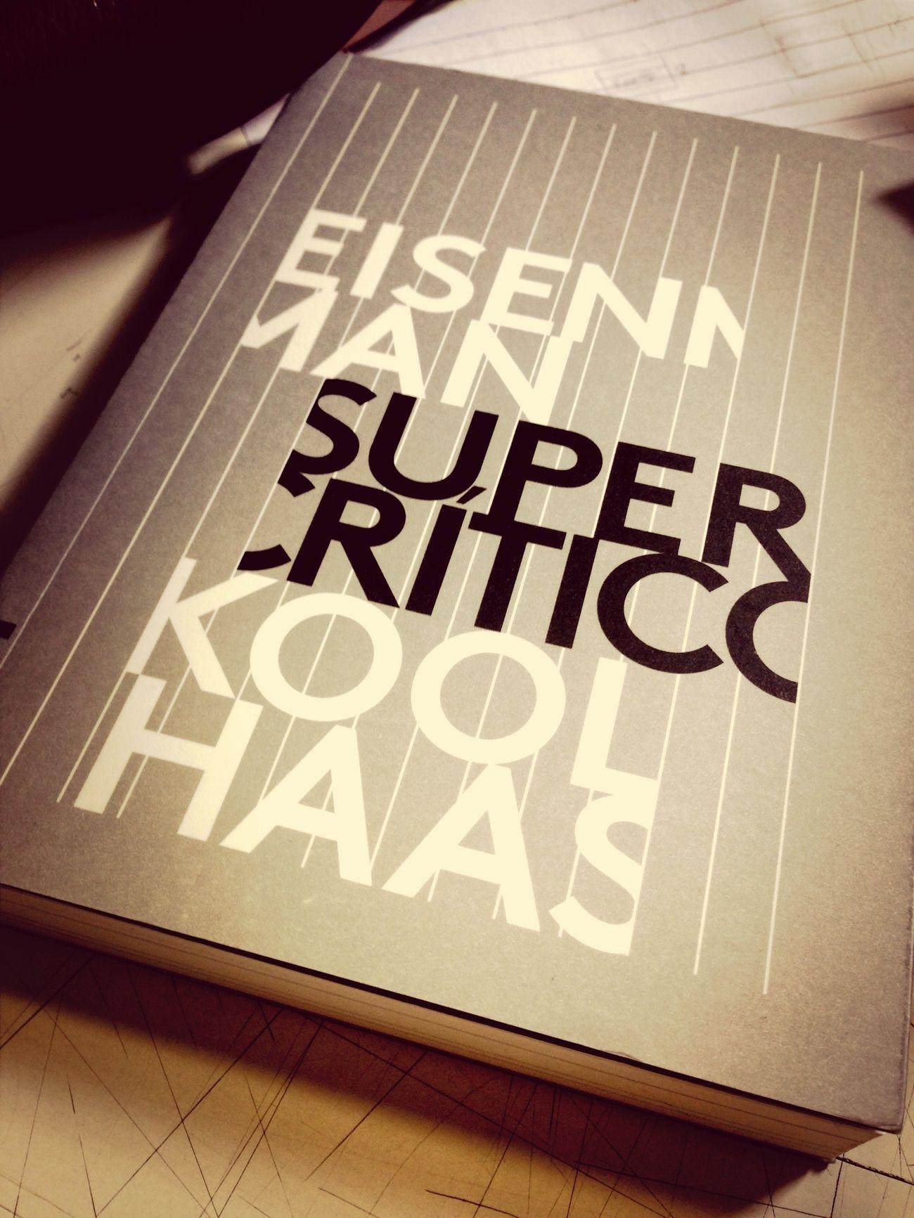 Livro de cabeceira SuperCrítico Eisenman Koolhaas