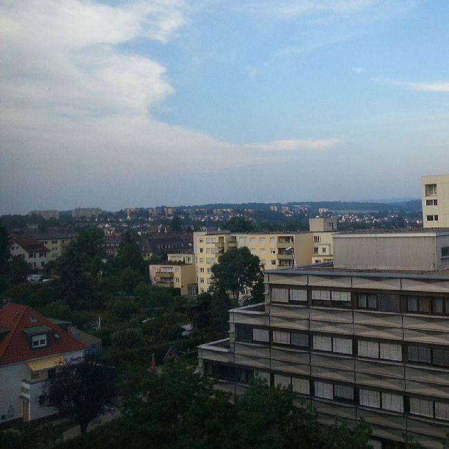 Nordost-Kassel :) beste City Nieohnesie Skyline hood houses sky skyporn green trees backyard nofilter