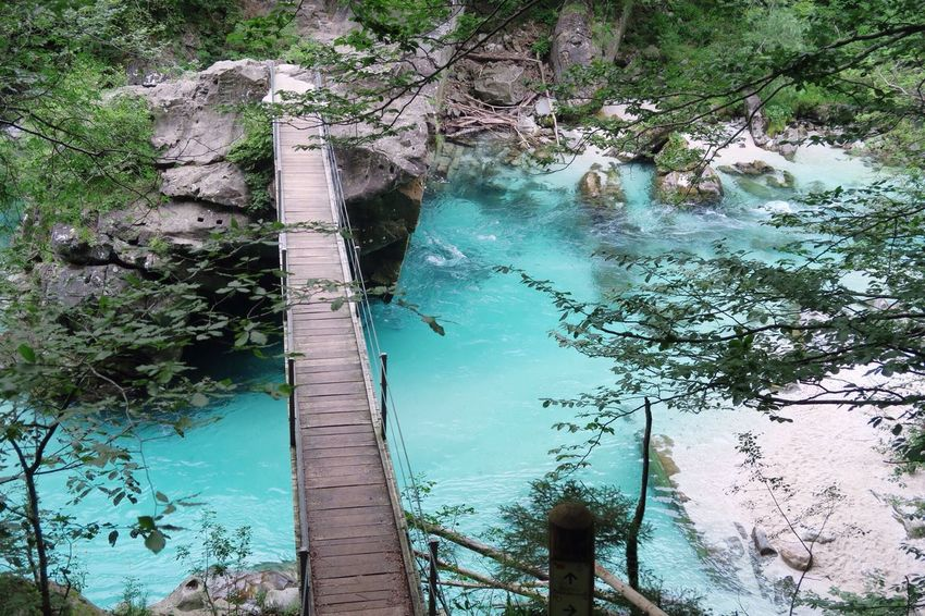 Water Nature Beauty In Nature High Angle View Outdoors Tree Day No People River Scenics Tranquility Bovec Slovenia