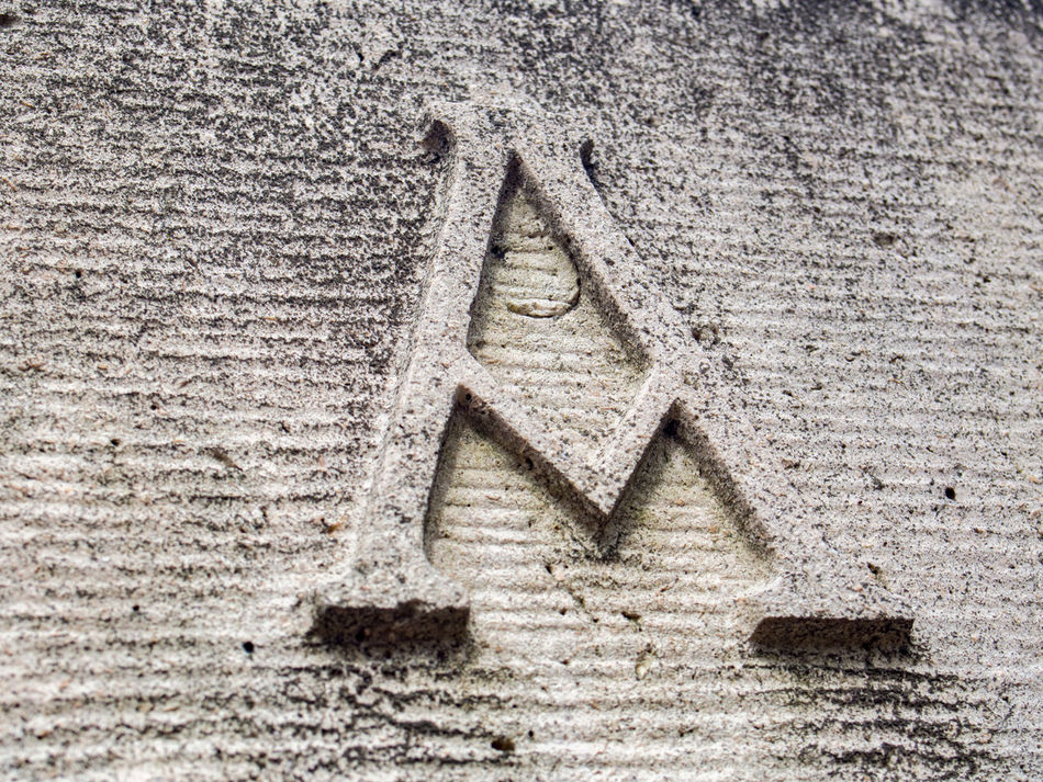 Alpha Architecture Close-up Creation Day Greek Greek Letter Letter Letter PHOTOGRAPHY Letters In The City No People Outdoors Passing Time Shabby Shabby Chic Start Stone Stone Letter Stone Material Symbol Symbolic  Worn Worn Out Worn Out & Wonderful