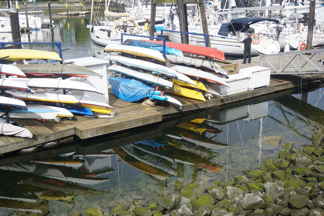 Architecture Boat Boats Canoe Canoes Day Nautical Vessel No People Outdoors Reflection Upside Down