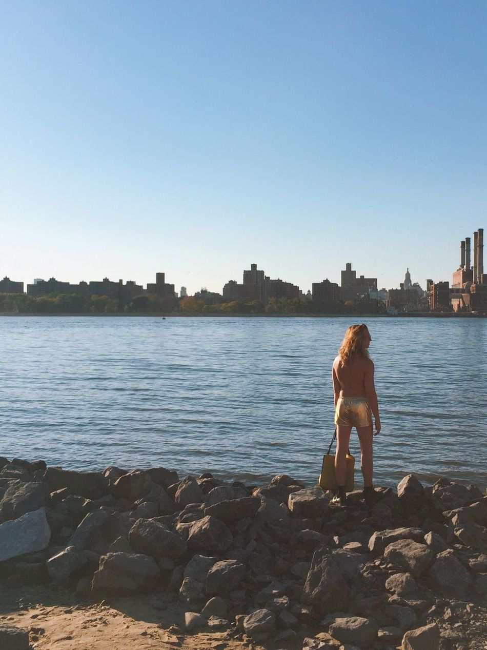 Dylan and his infamous Gold Shorts New York City Skyline EyeEm Adventure Brooklyn