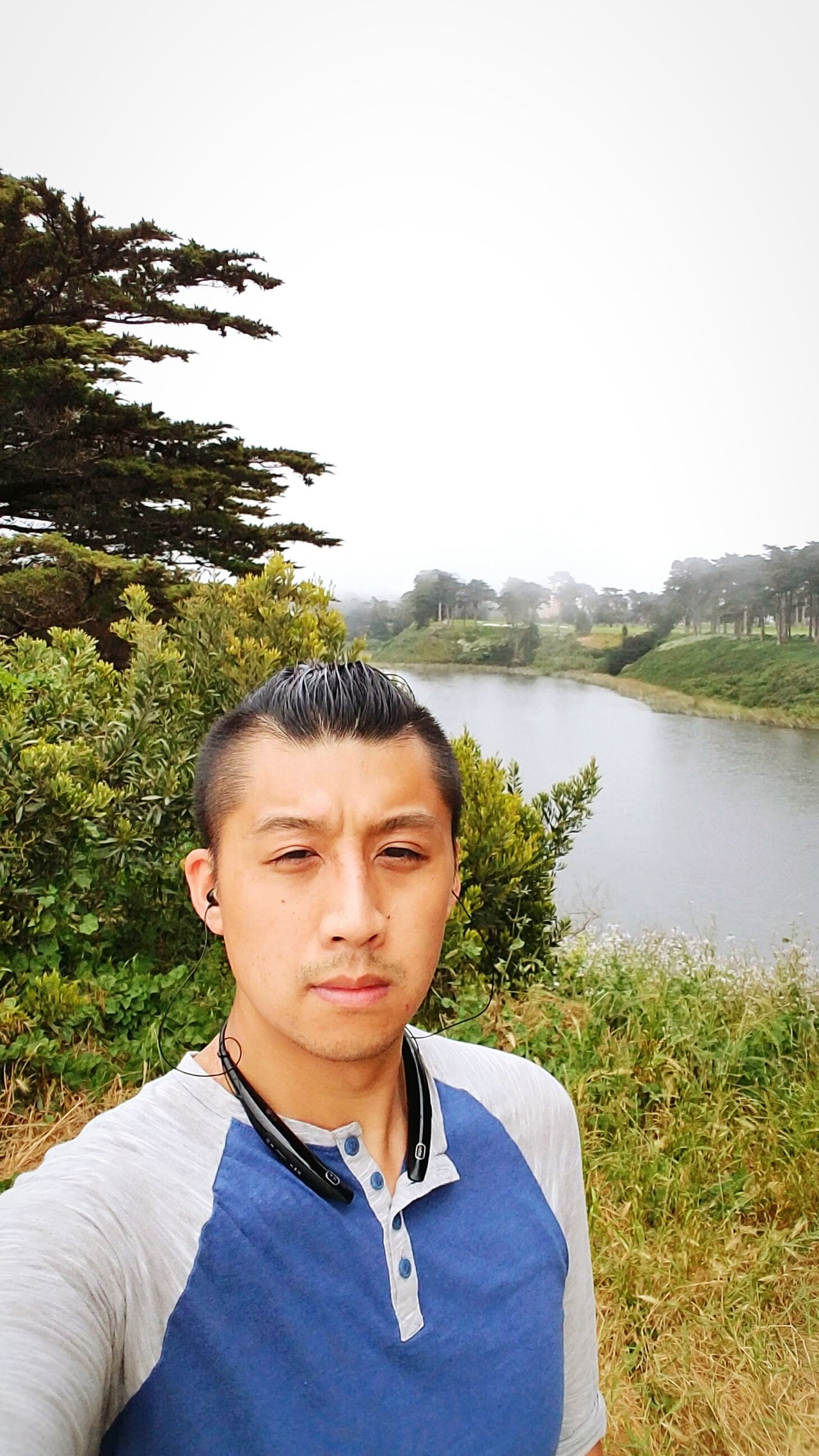 Ehh just a selfie of me, myself, and treesnlake Adult Front View Lake Outdoors Portrait Day Sky Nature Water Greenery Beauty In Nature Skyline Love Scenery Shots The Great Outdoors - 2017 EyeEm Awards Agriculture Green Color Growth Nature Tree Menhairstyle Lips Amateurmodelling Asian  Selfıe