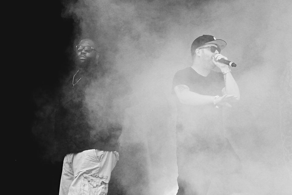 Run The Jewels Concert Black And White EyeEmNewHere Run The Jewels Lollapalooza Gig Killer Mike El-p Smoke Welcome To Black