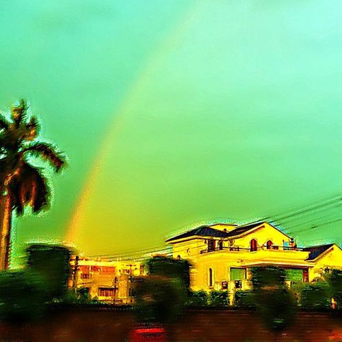 After Rain Out On Activa Got This Moment Not A Perfect Shot Still Satisfactory Rainbow Not That  Much Clear But Still Better 👍⛅💧🌈