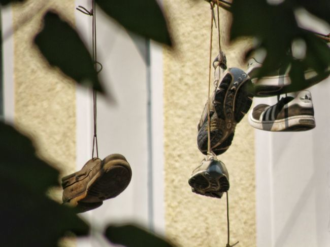 Part Of Cropped Close-up Handlebar Focus On Foreground Person Personal Perspective Cycle Shoes Shoes Off Shoes On A Wire Old Shoes Shoes On Wire Shoes Of The Day Shoesgame Αθήνα (Athens) Athens, Greece Athens