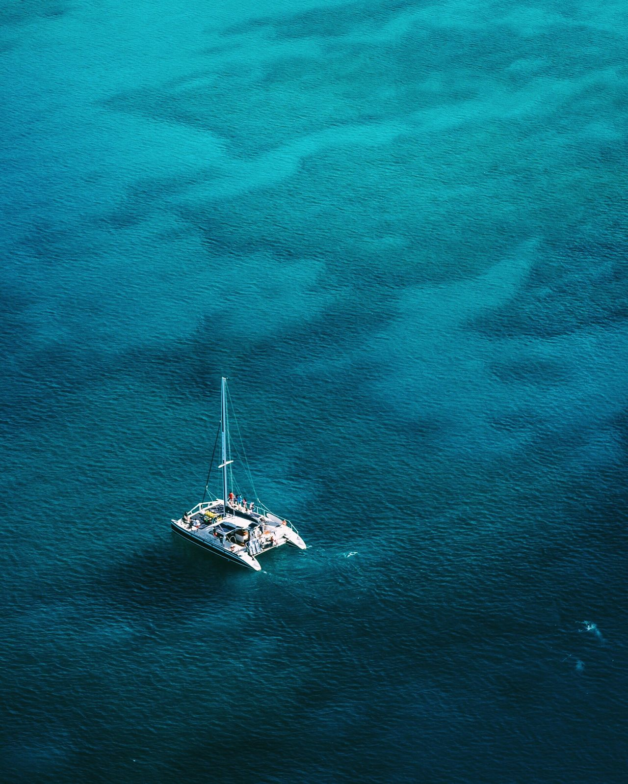 Nothing like swimming with the dolphins. Live For The Story High Angle View Sea Aerial View Nautical Vessel Blue No People Nature Sailing Water Outdoors Sailing Ship Beauty In Nature Day