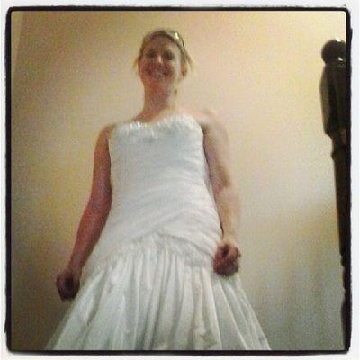 Megan reliving her wedding dress. Stillfits Kindof Weddingdress
