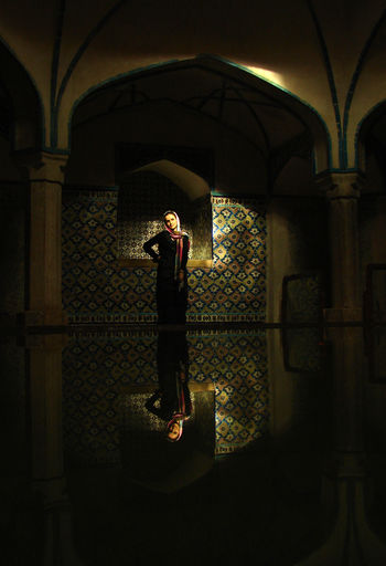 Hamam-e Ganj Ali Khan, is a traditional bathhouse Built in 1631. An woman posing for a photo-shoot Ancient Architecture Architecture Bathhouse Hijab Lifestyles Posing For The Camera Traditional Well-dressed Woman Finding New Frontiers