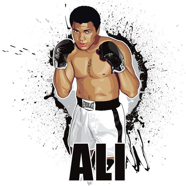 Muhammad Ali New vector art just done. For a t shirt. What you think ? 😜👊👊👊👊 Muhammedali Boxing
