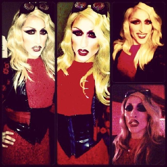 Last nights look Dragqueen  Domino Dragrace Dragdroid redforfilth rupaul selfie fierce weho millenahidaway