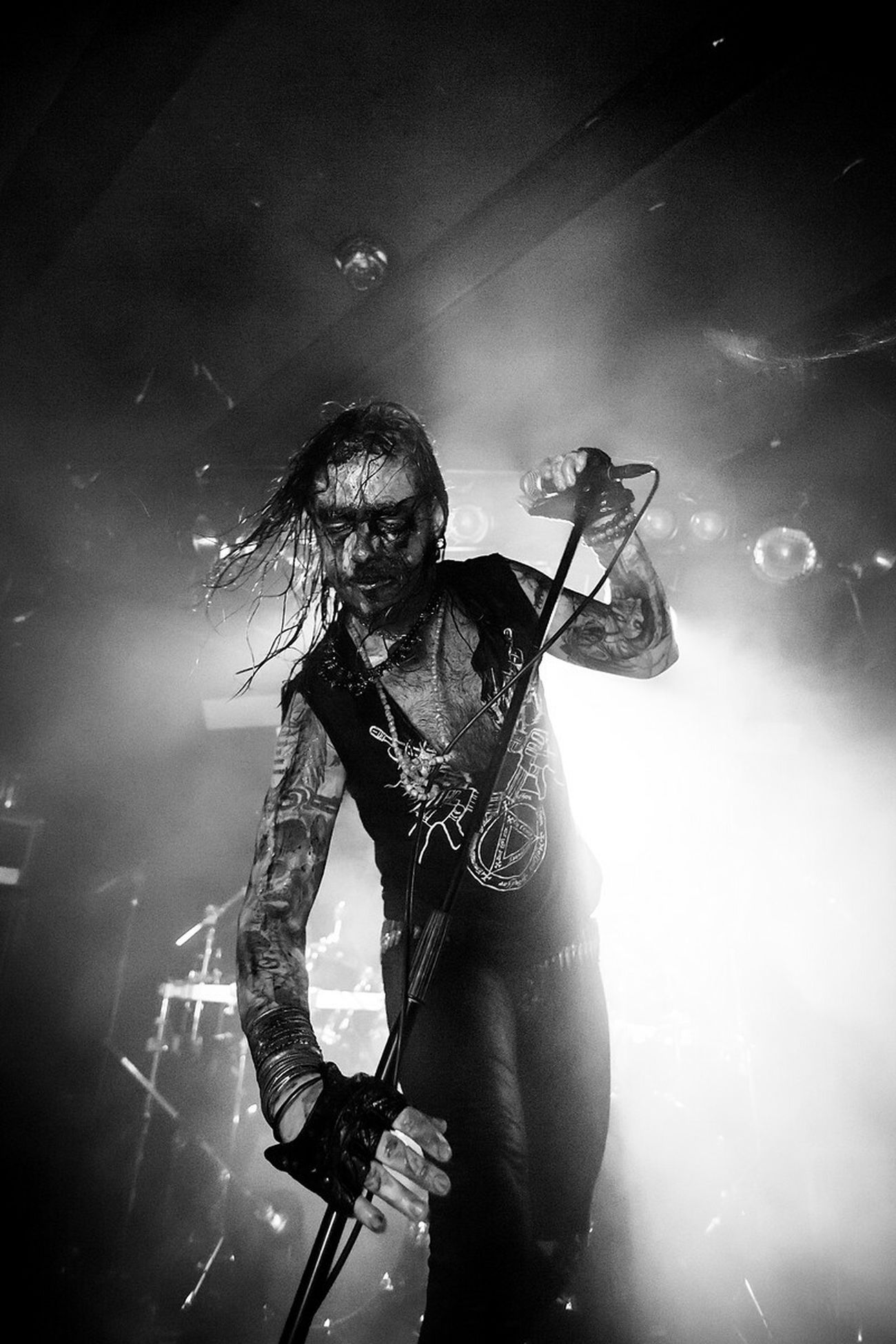 The Norwegian Black Metal band One Tail, One Head performing at the Festival Beyond The Gates. Concert Concert Photography Music Music Photography  Bergen Norway