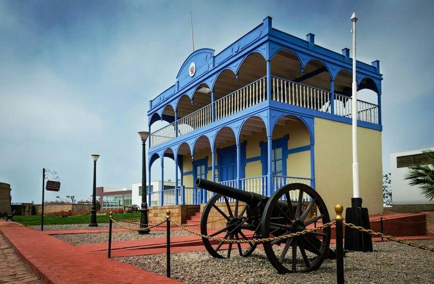 Interior de la Fortaleza del Real Felipe - Inside Real Felipe Fortress in El Callao Lima Architecture Historical Site