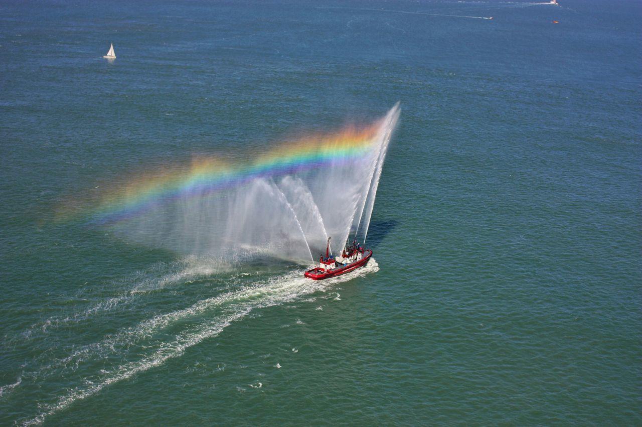 Beautiful stock photos of rainbow, Beauty In Nature, Boat, Day, Idyllic