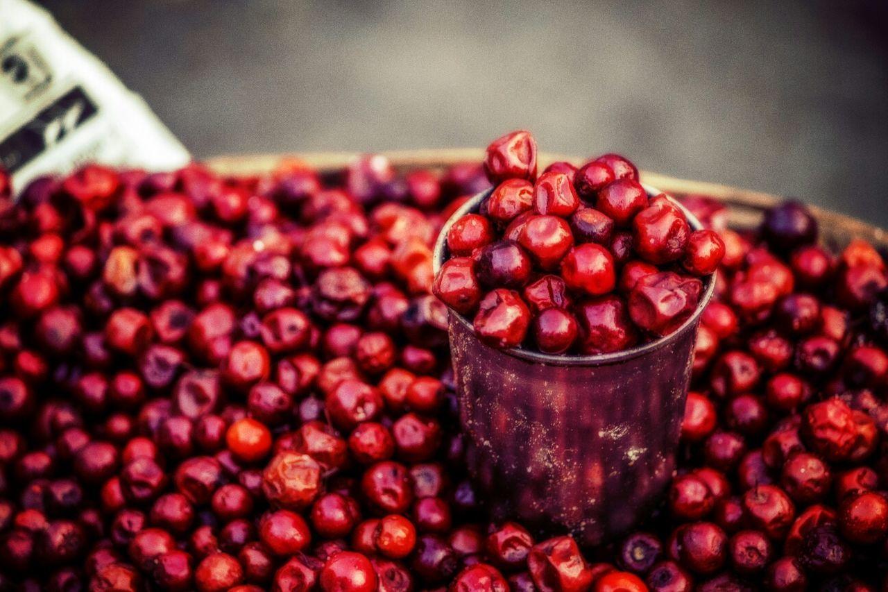 Basket full of jujube berries