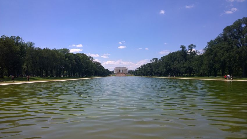 Architecture Colours History Lincoln Memorial Prospective Travel Tree Water And Sky