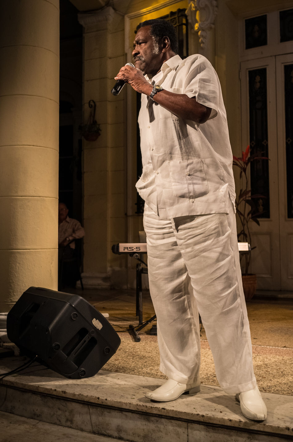 Writer speaking at the UNEAC in Vedado, Havana. Colonial Architecture Cuba Performance Spoken Word Stage Tourism Travel Travel Destinations UNEAC