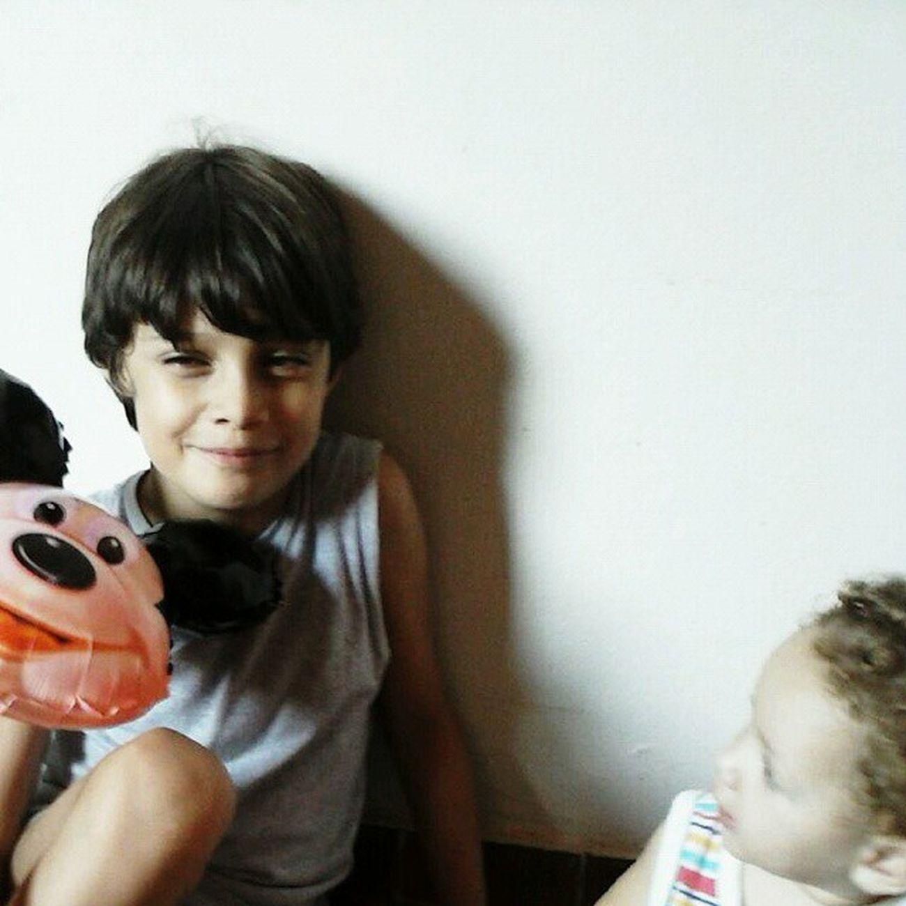Meu Filhão Nicolas e nosso Priminho Samhir 💙