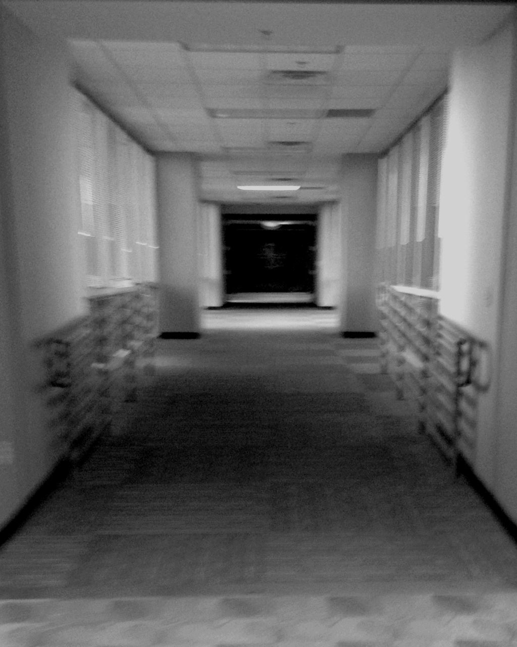 indoors, corridor, the way forward, architecture, empty, built structure, no people, day, prison
