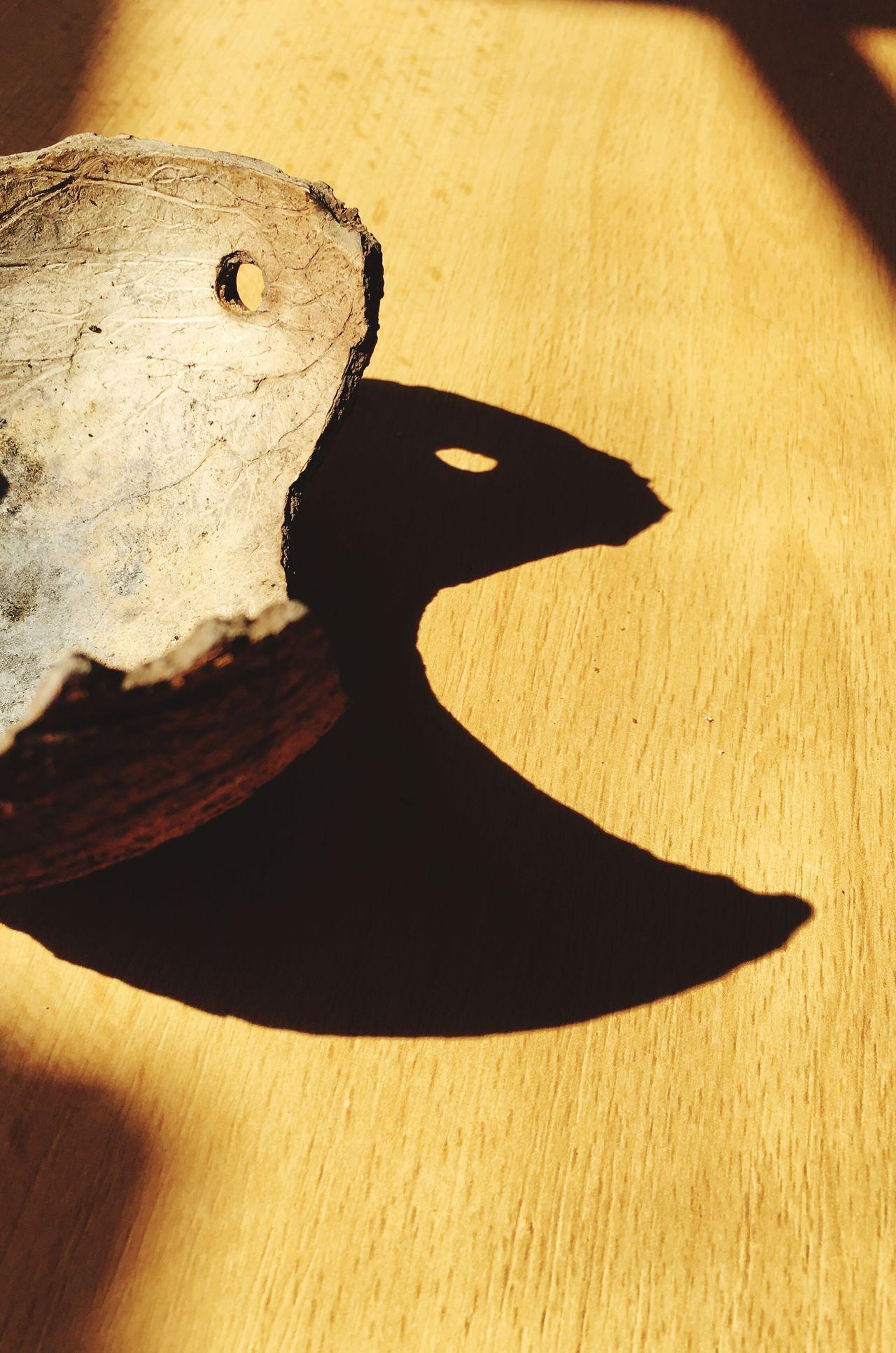 Shadow Sunlight And Shadow Iphonepicture Sunlight Sonnenlicht Pacman Schattenspiel  Switzerland Sunnyday Sun Indoors  Wood - Material Coconut Kokosnussschale Cocobello